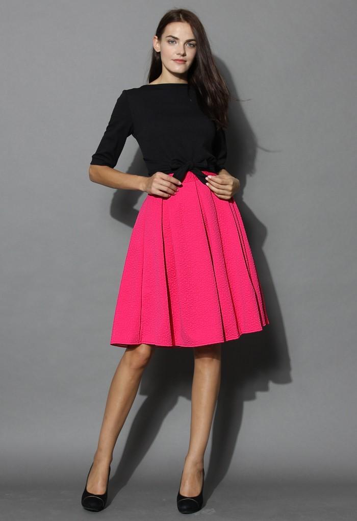 Áčková sukně do zaměstnání