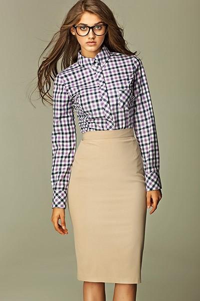 Krémová sukně do práce