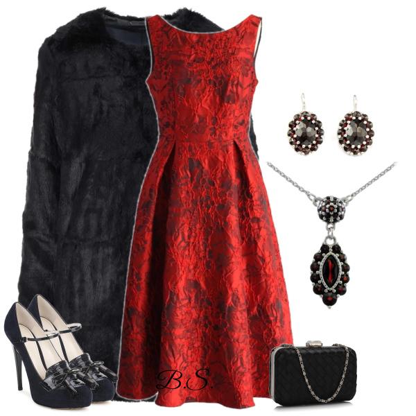 Společenské červené šaty Chicwish Glamour