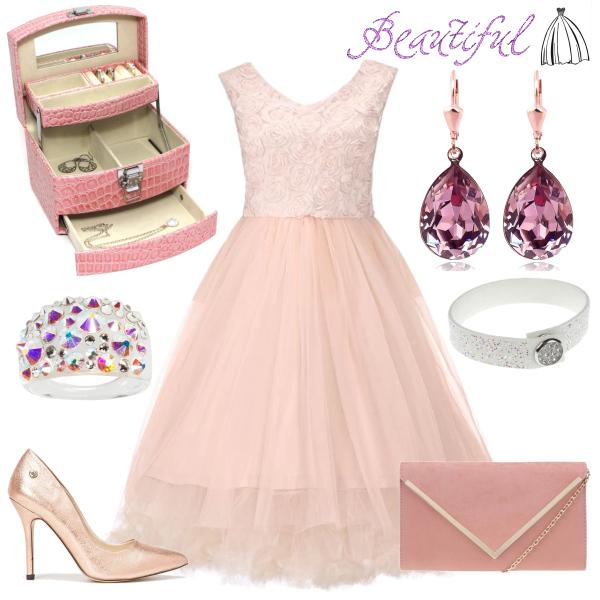 Světle růžové šaty Lindy Bop Anais