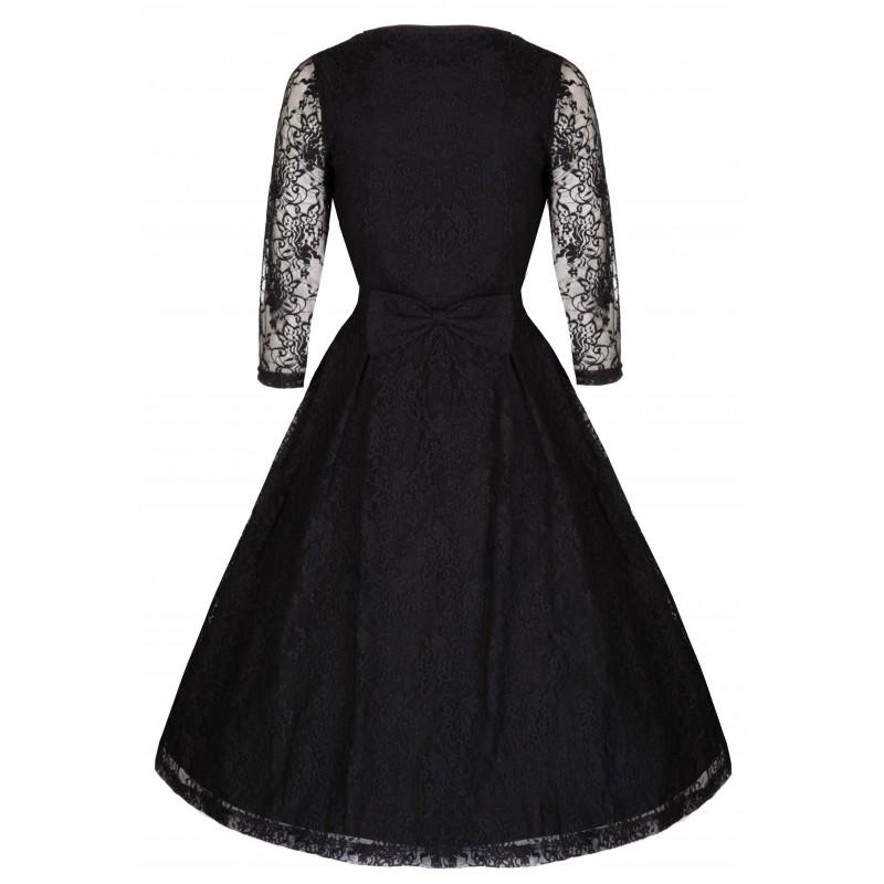 Černé šaty do tanečních Lindy Bop Lisette