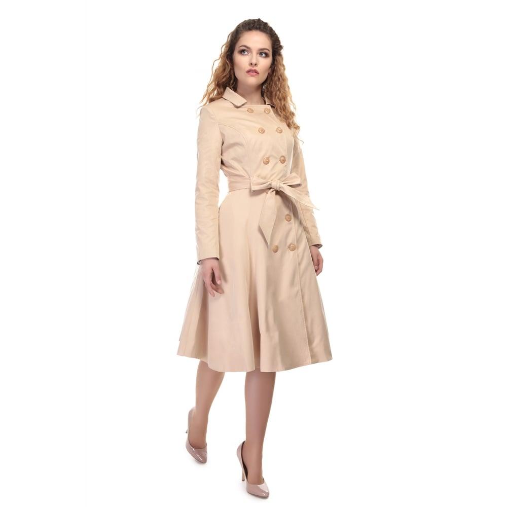 97551f0d044 Béžový kabát Collectif Korrina Collectif Retro oblečení