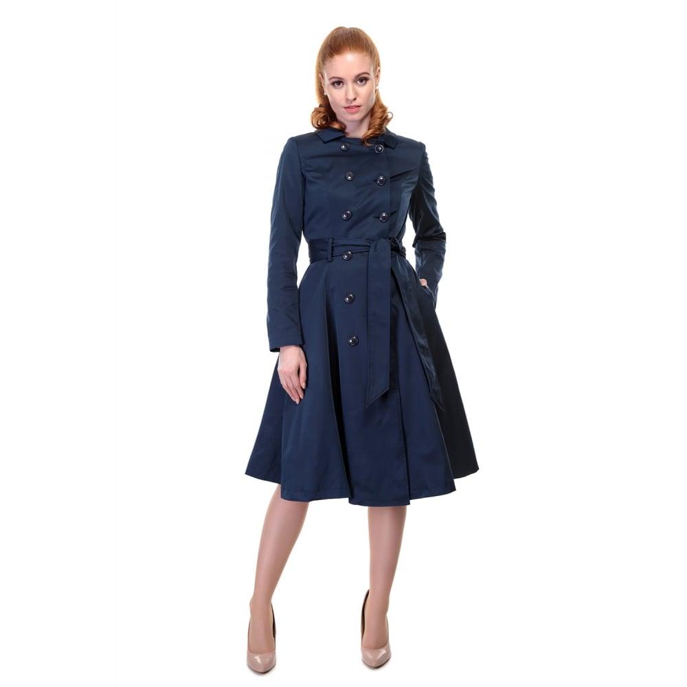 e2c26d4282c Tmavě modrý kabát Collectif Korrina Collectif Retro oblečení