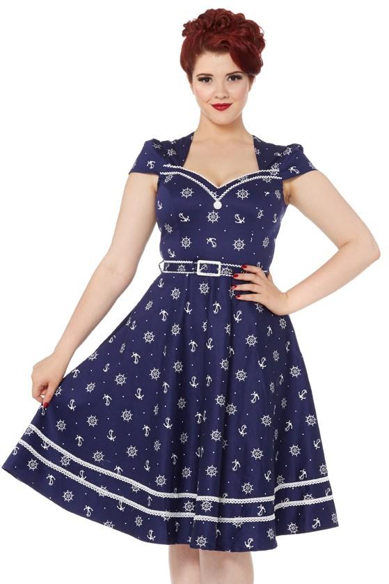 70cab651c542 Modré námořnické šaty Voodoo Vixen Joni Voodoo Vixen