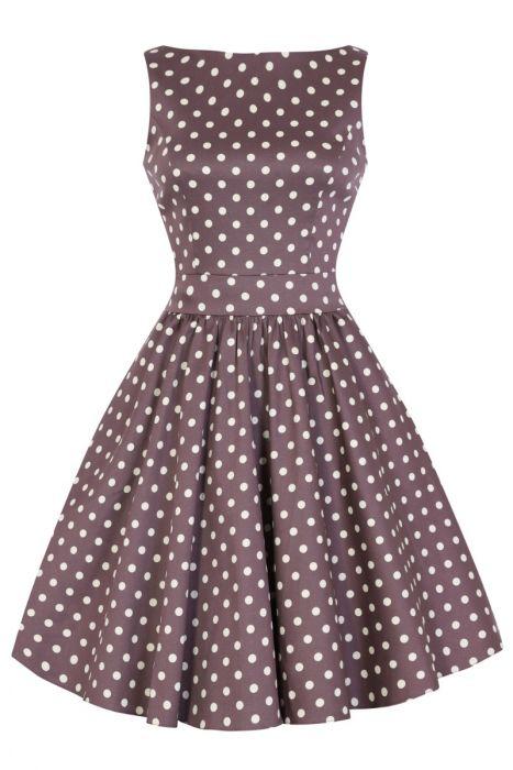 Béžové šaty s puntíky Lady V London Tea Lady V London  58d37717ee
