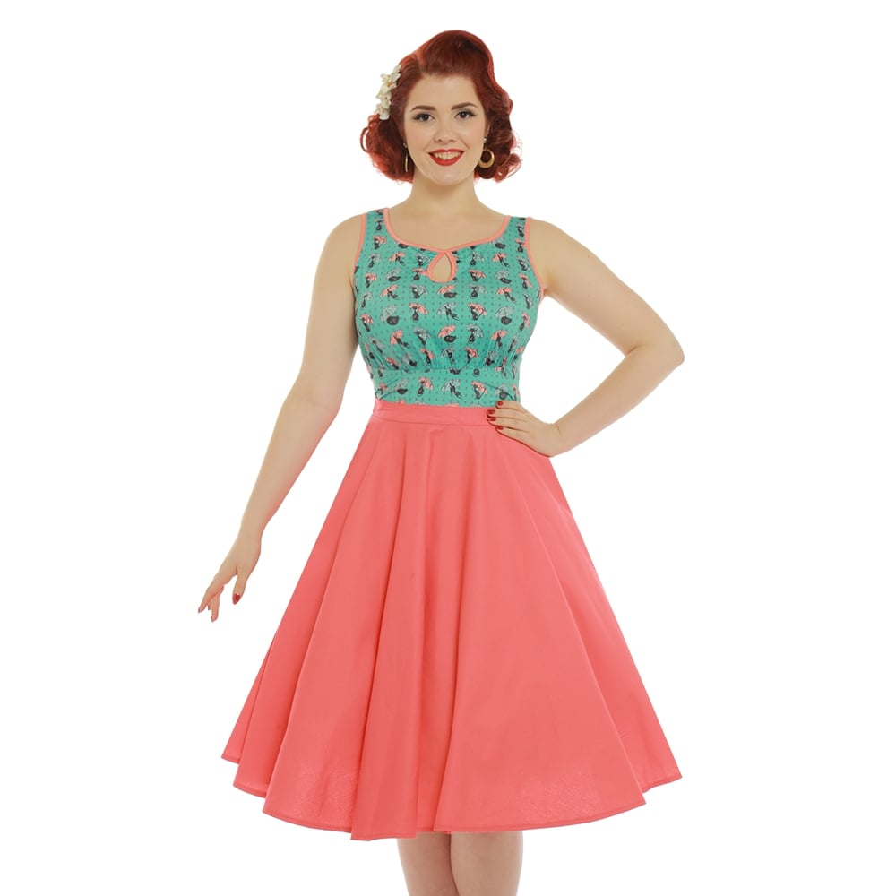 0ac917035 Korálová kolová sukně Lindy Bop Peggy Sue Lindy Bop | Blanka Straka