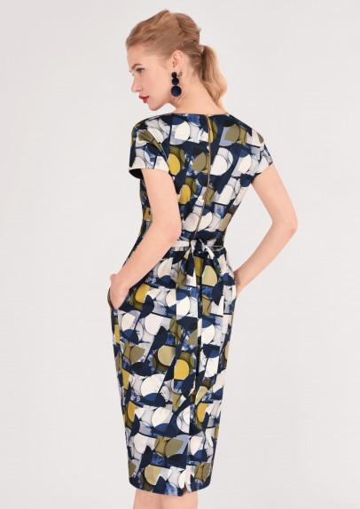 64282443febc Barevné šaty s úzkou sukní Closet Deja Closet