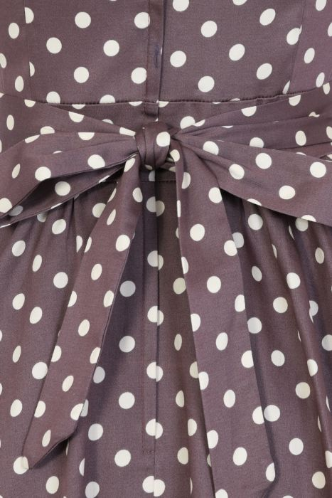 116b0a875fc8 Béžové šaty s puntíky Lady V London Tea Lady V London