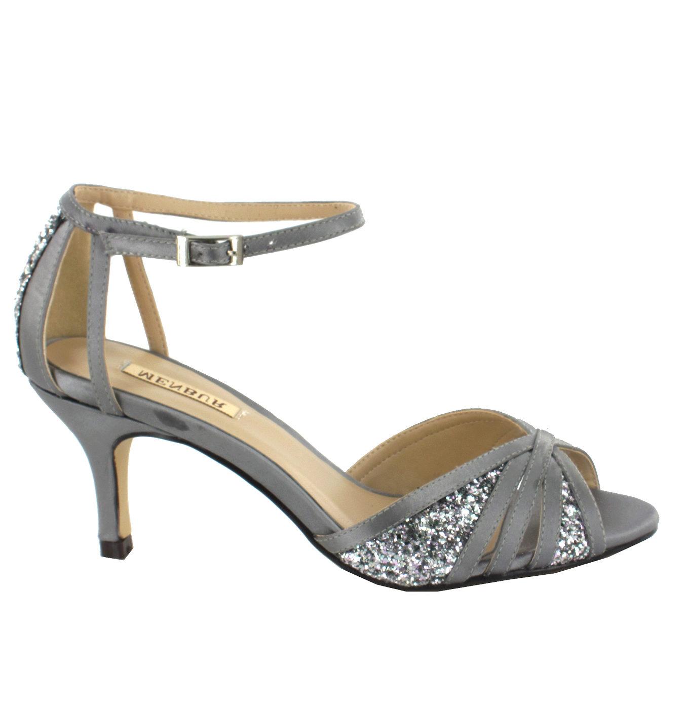 b77874a9c8a Stříbrné společenské boty Menbur Menbur