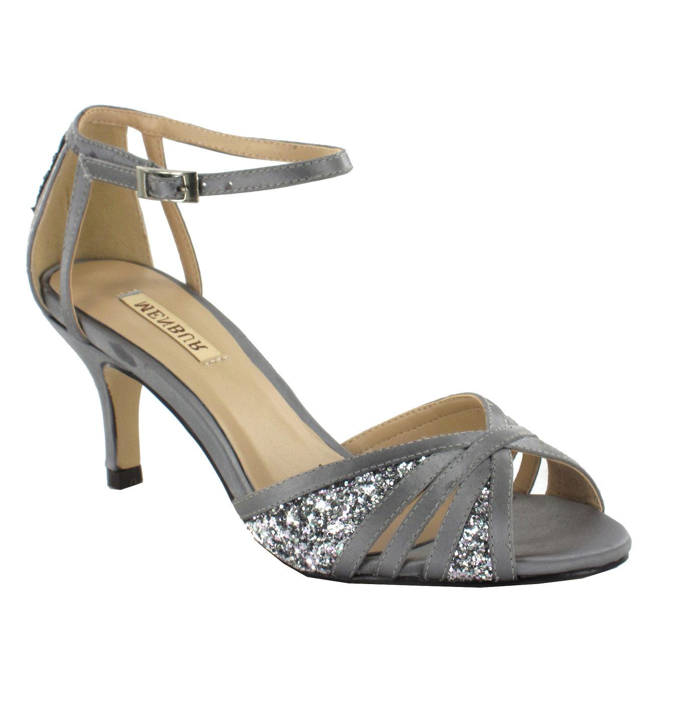 Stříbrné společenské boty Menbur Menbur  03b593ea97