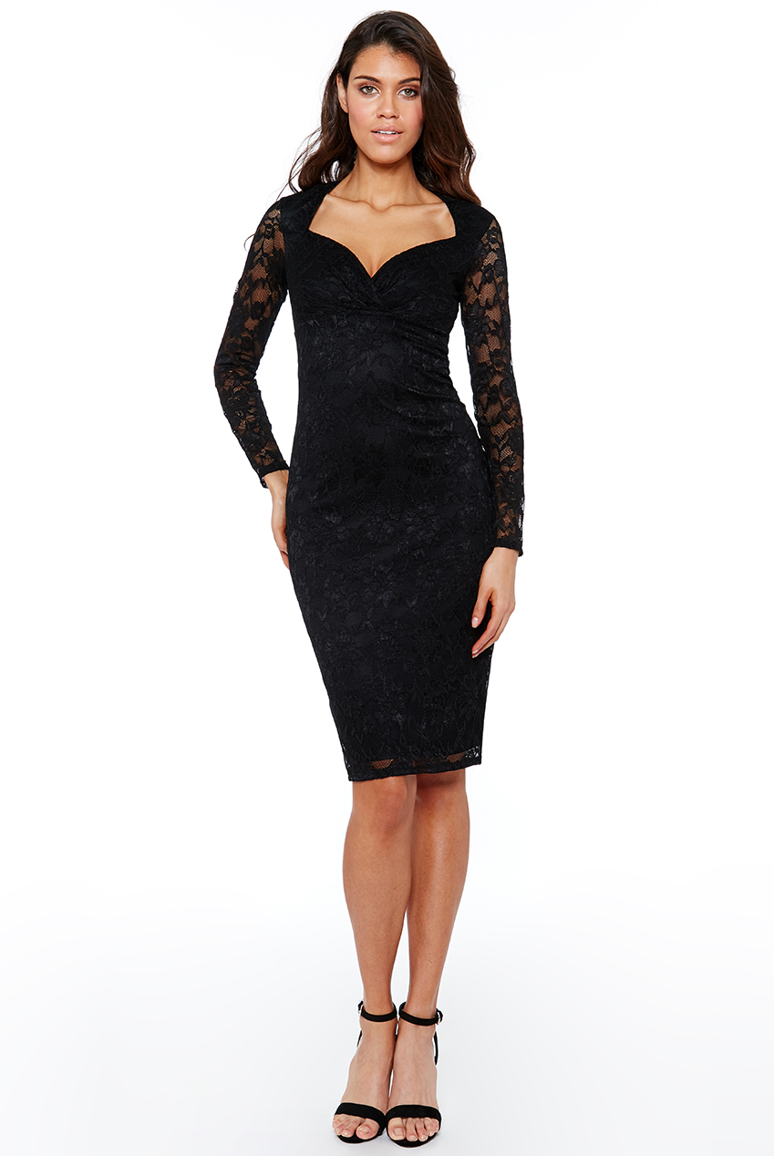 7a8fe396adc Černé krajkové šaty City Goddess Nila City Goddess