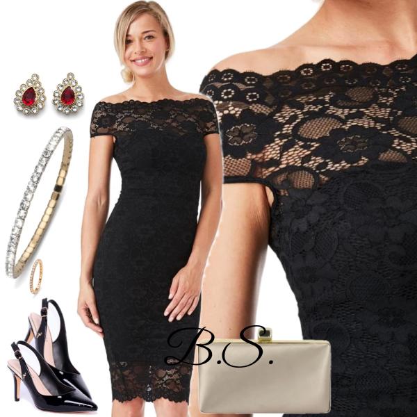 f7782050841 Černé krajkové šaty City Goddess Ornella City Goddess