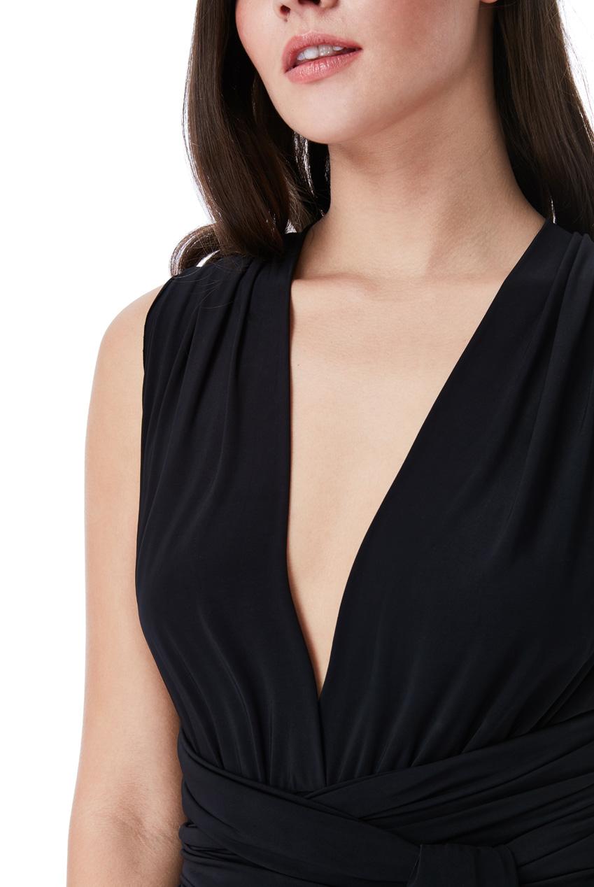 27c2b4439d4c Černé maxi šaty se zavazováním City Goddess Noell City Goddess ...