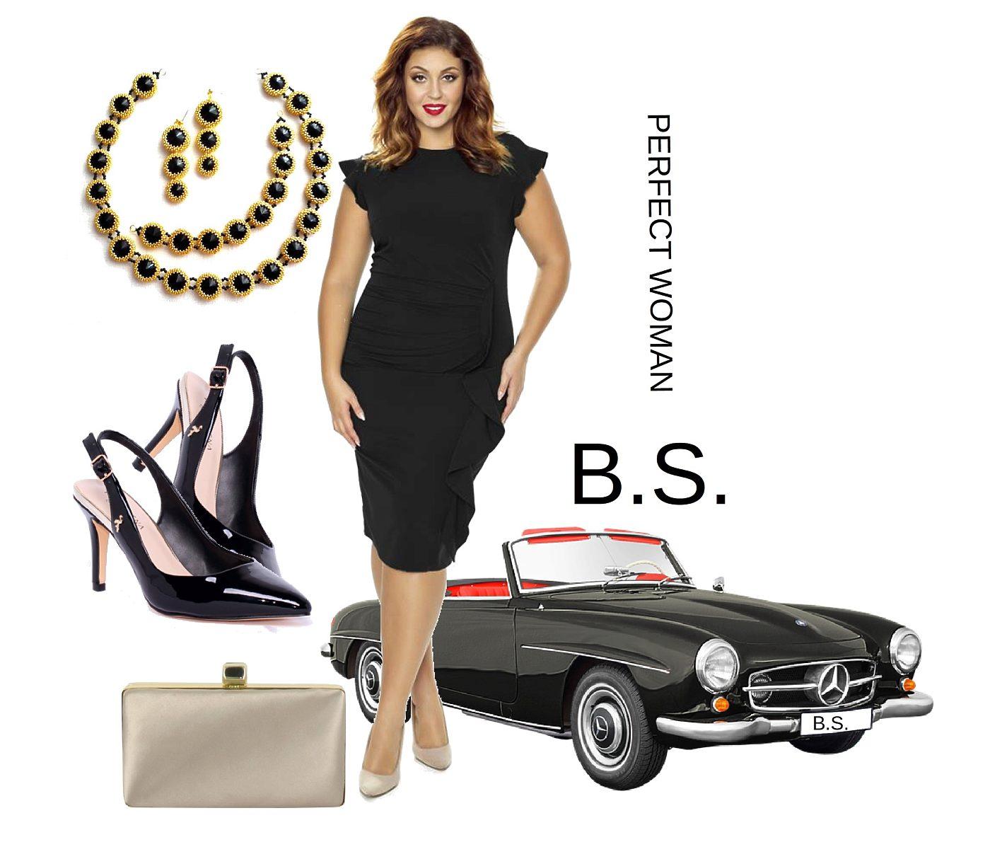 f6a4ea63bfa Černé pouzdrové šaty Kartes Arianna Kartes