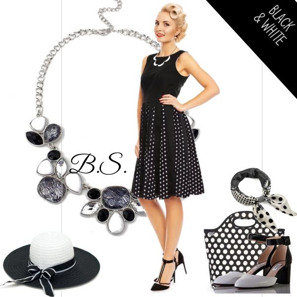 Černé šaty s puntíkovanou sukní Dolly and Dotty Judith Dolly and ... c7baa406c3