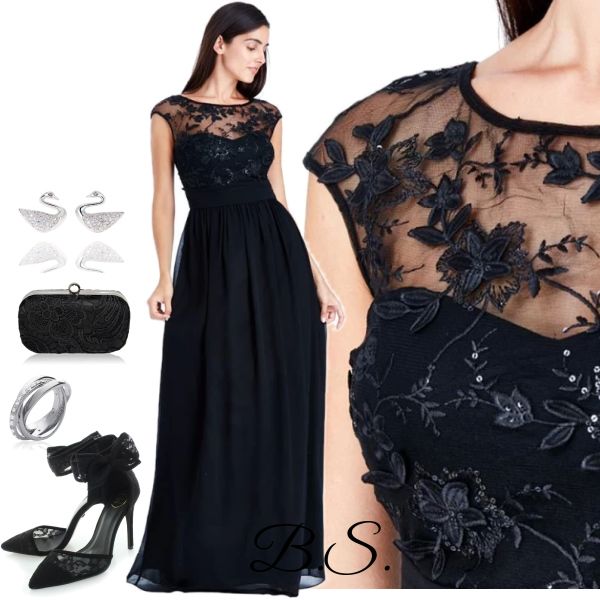 375cdb12f33 Černé společenské šaty City Goddess Sofia City Goddess
