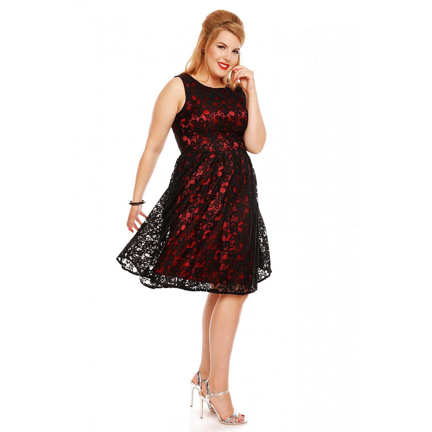 593f49430afb Černo červené šaty s krajkou Dolly and Dotty Annie Dolly and Dotty ...