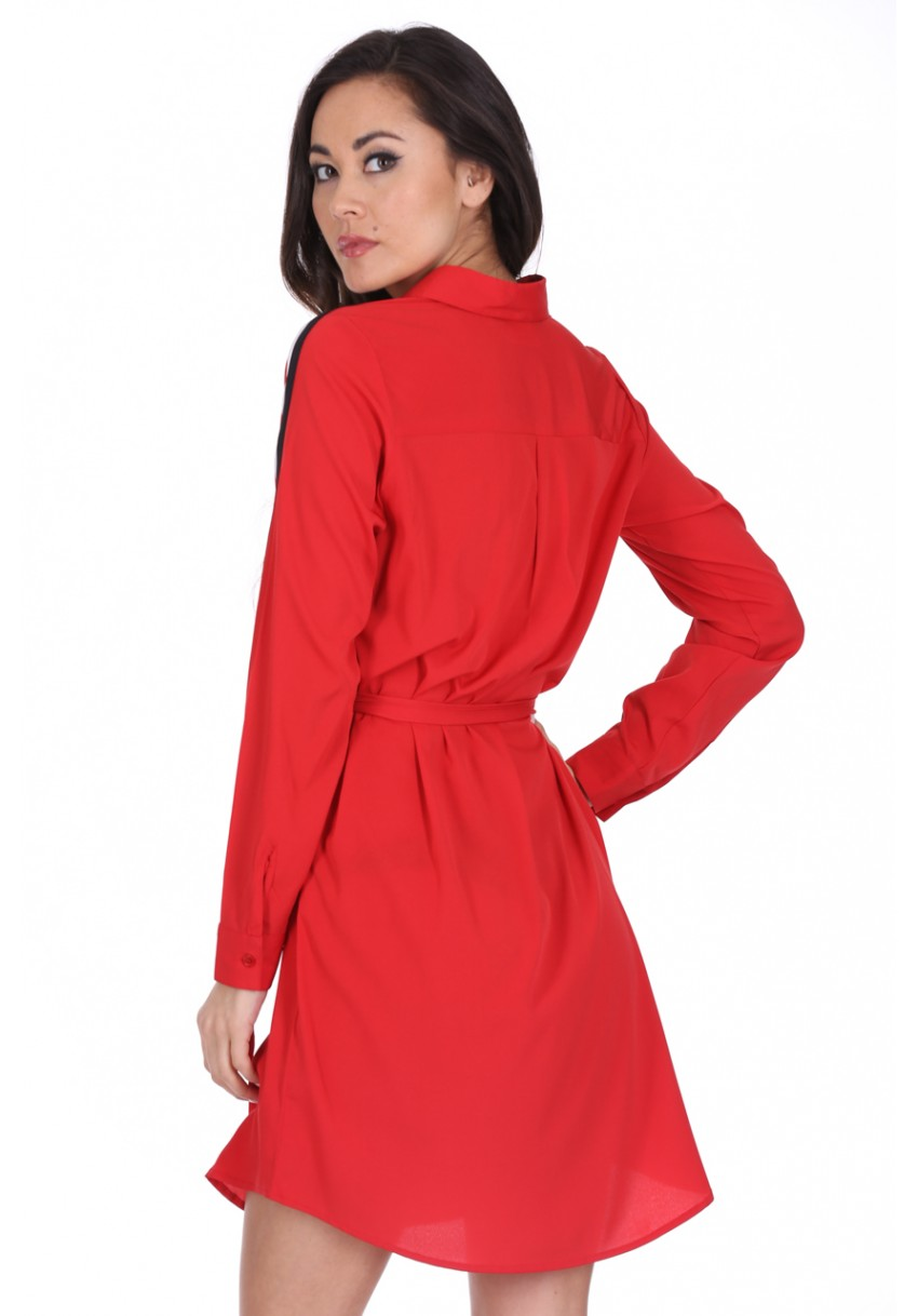 Červené košilové šaty Irina Ax Paris Ax Paris  7f964547a3