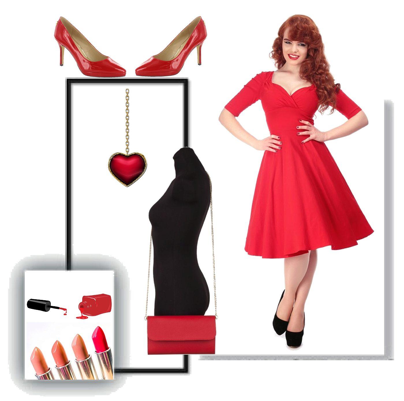 9bcd9ae3f60 Červené šaty se sukní Collectif Trixie Collectif