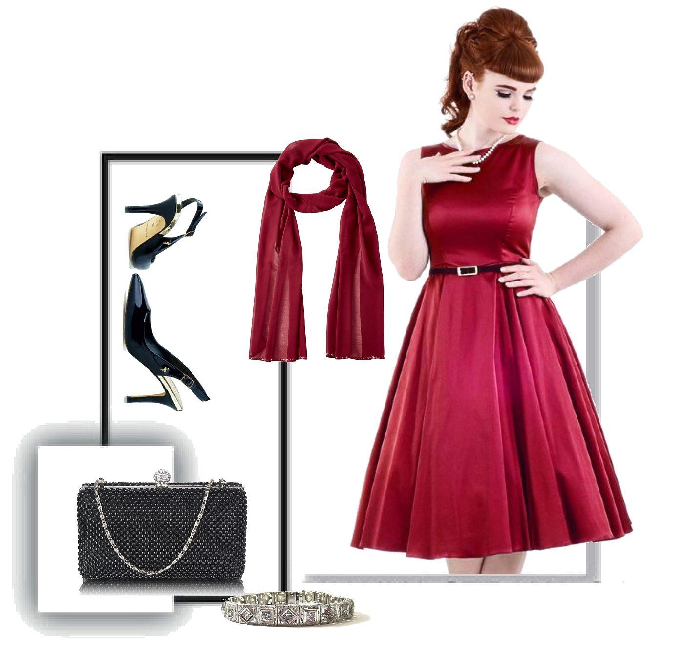 Červené společenské šaty Lady V London Audrey Lady V London  6a2c365cd7