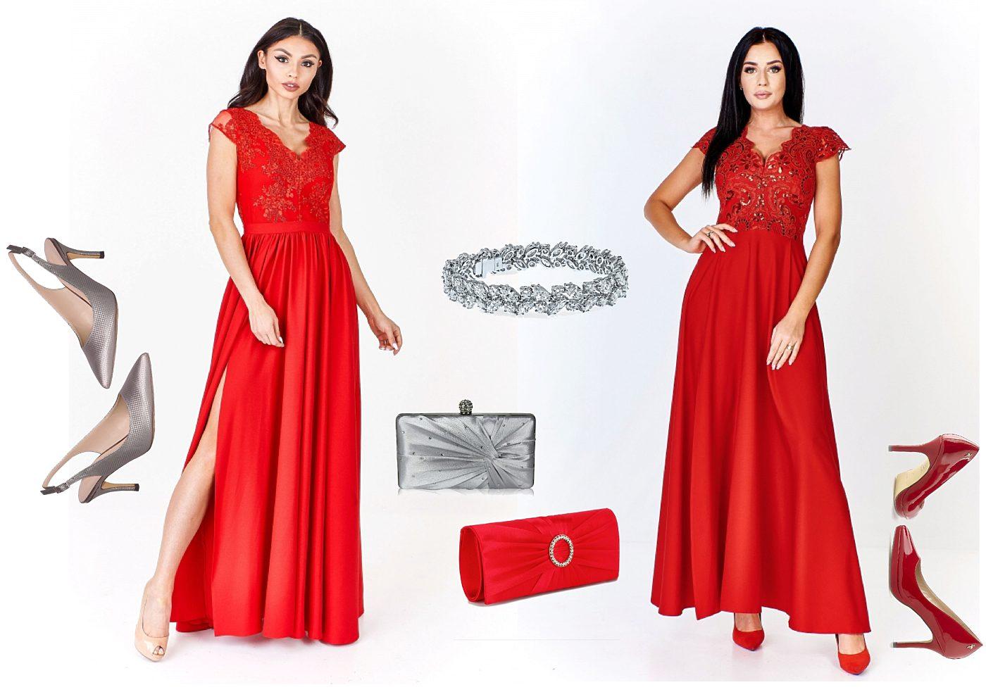 ab553307cf3 Červené společenské šaty s rozparkem Bosca Fashion Amma Bosca ...