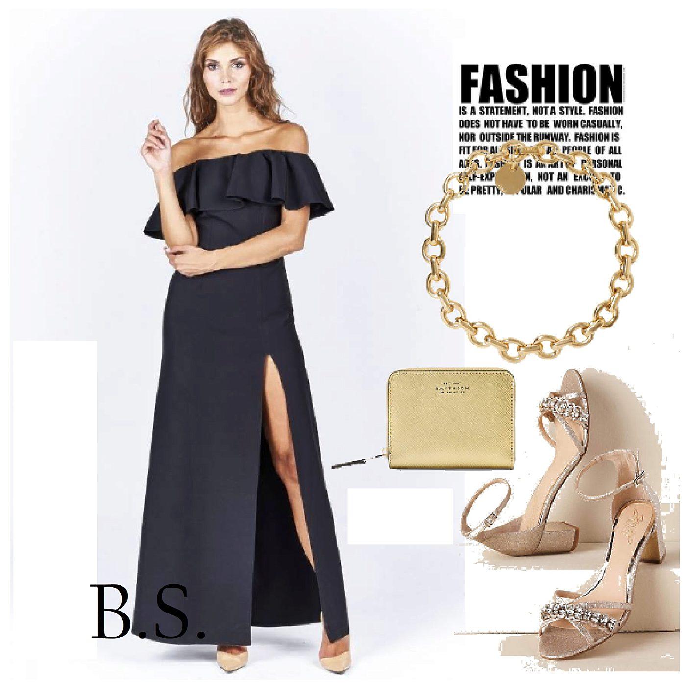 Dlouhé černé šaty s volánem Katniss Kora Katniss  c9eb456570