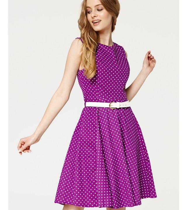 ca256a49df4 Fialové šaty s puntíky Misfit Marina Misfit