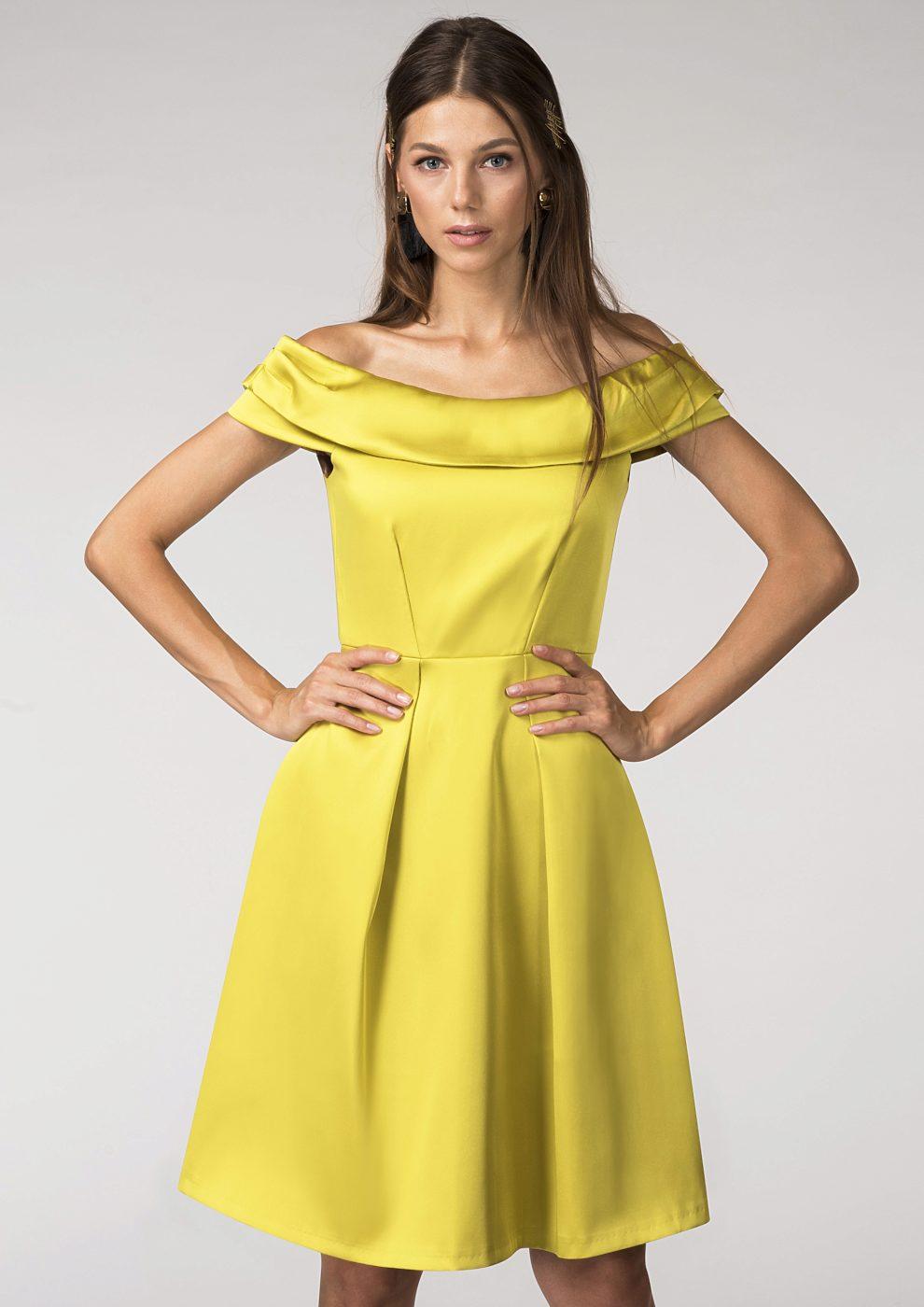 283bcc6aa72 Hořčicové společenské šaty Closet Diana Closet