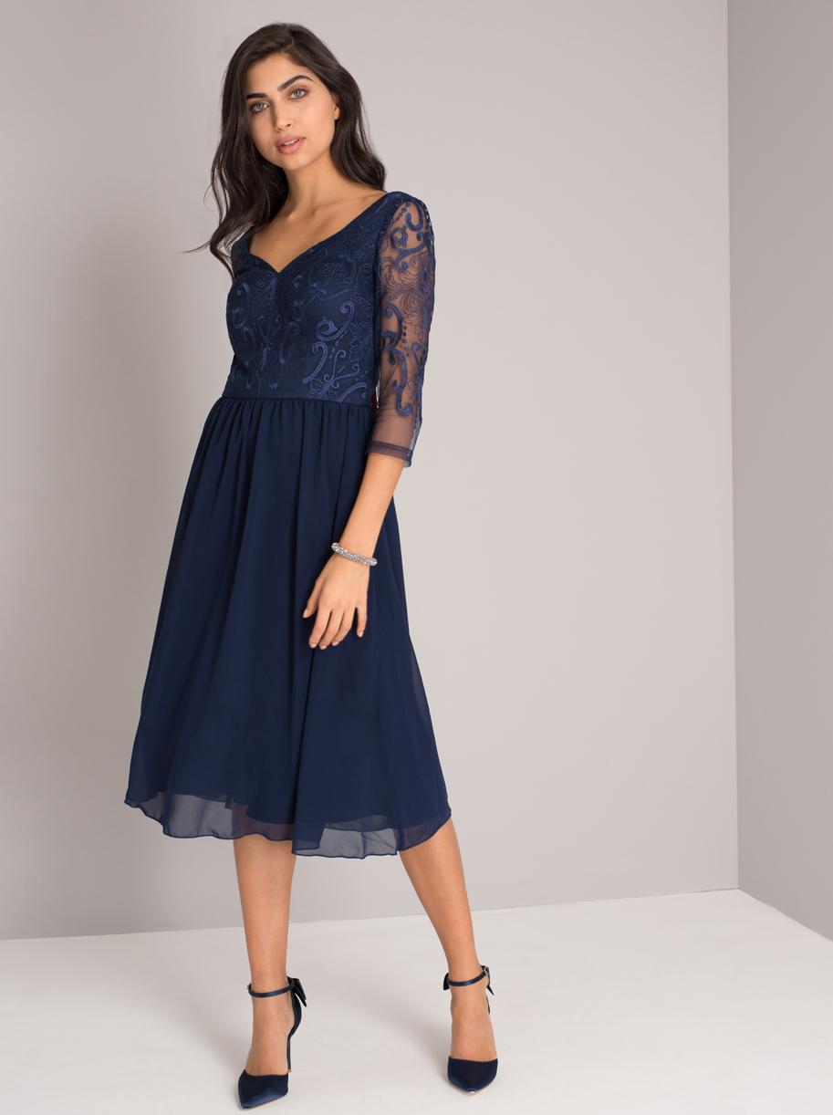 Modré společenské šaty Chi Chi London Nisha Chi Chi London  397d98291f