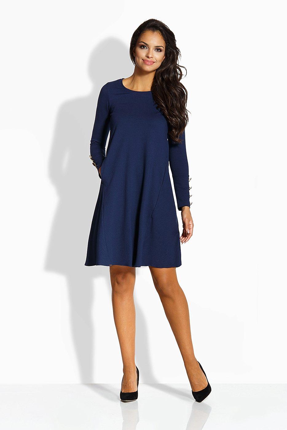 Tmavě modré šaty s tříčtvrtečním rukávem Lemoniade Amalia Lemoniade ... 235f55124e