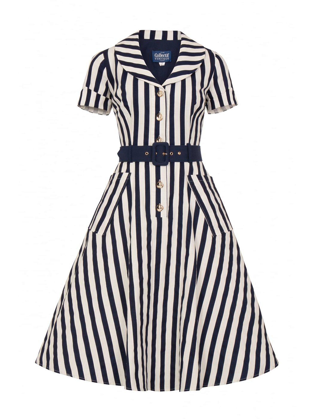 bc3dffb52f6a Košilové námořnické šaty Collectif Brette Collectif