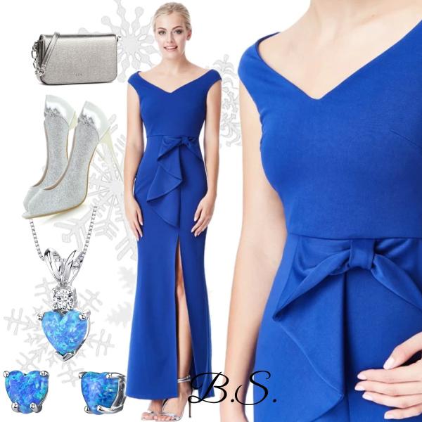 Královsky modré plesové šaty City Goddess Alex City Goddess  5ddb3595a8f