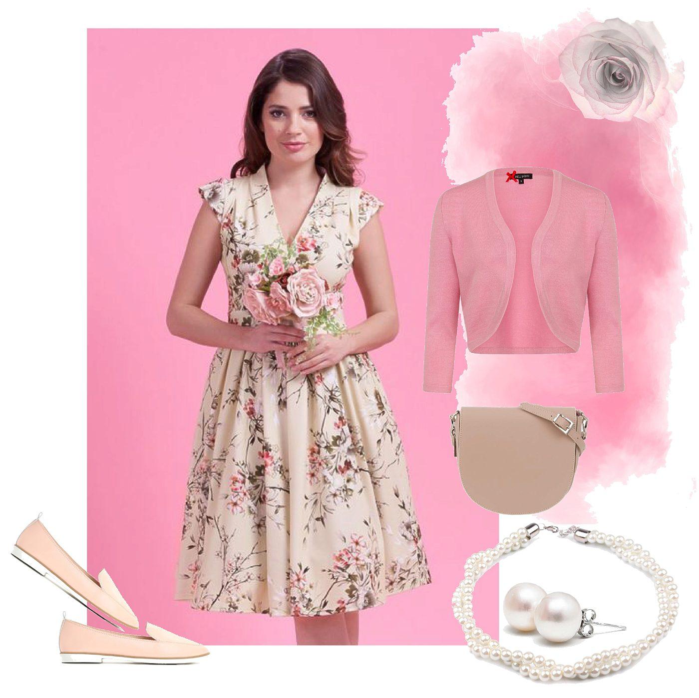 ca81fe46d6c9 Krémové šaty s drobnými květy Lady V London Eva Lady V London ...