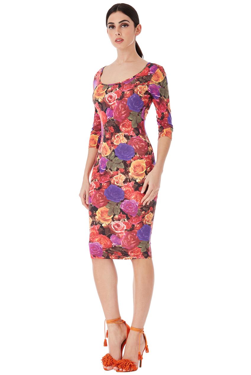 Květované pouzdrové šaty City Goddess Cecile City Goddess  bc87923304
