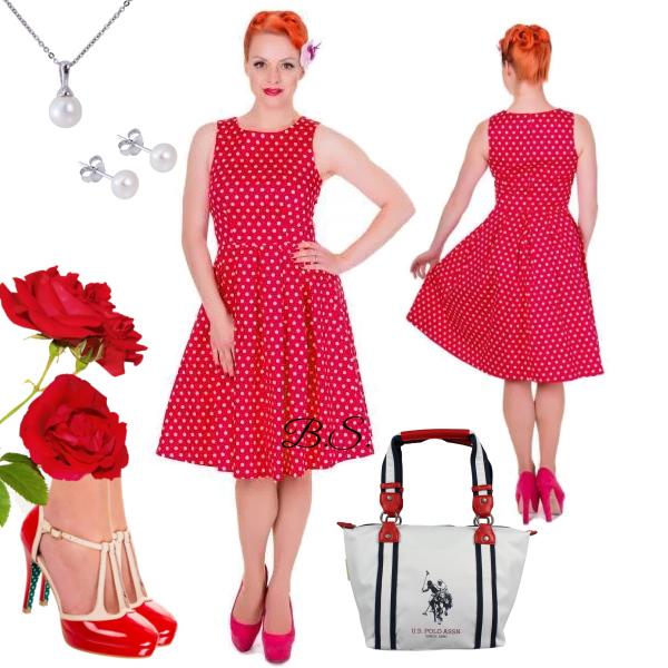 e5303a4a3 Červené puntíkaté šaty Dolly and Dotty Lola Dolly and Dotty