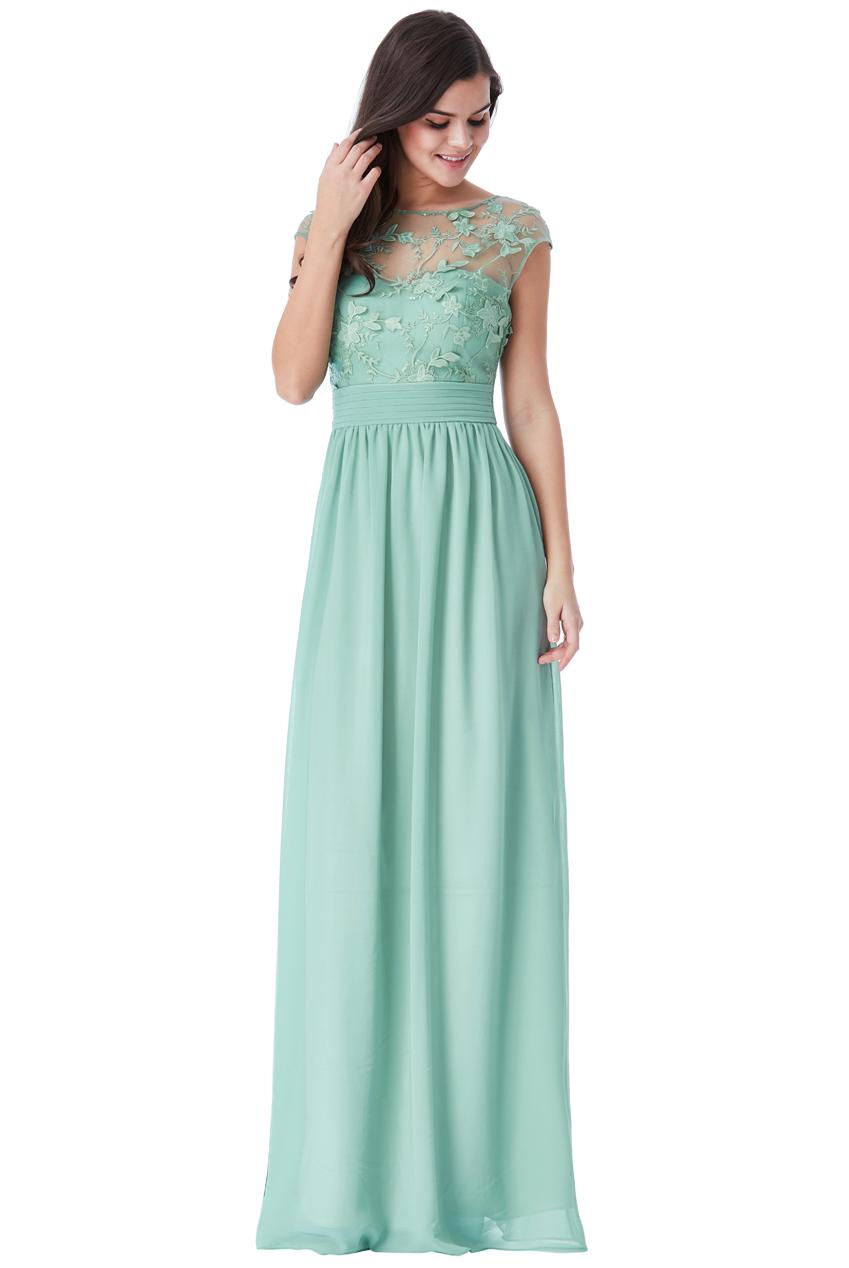 507d82e5694c Mentolově zelené společenské šaty City Goddess Sofia City Goddess ...