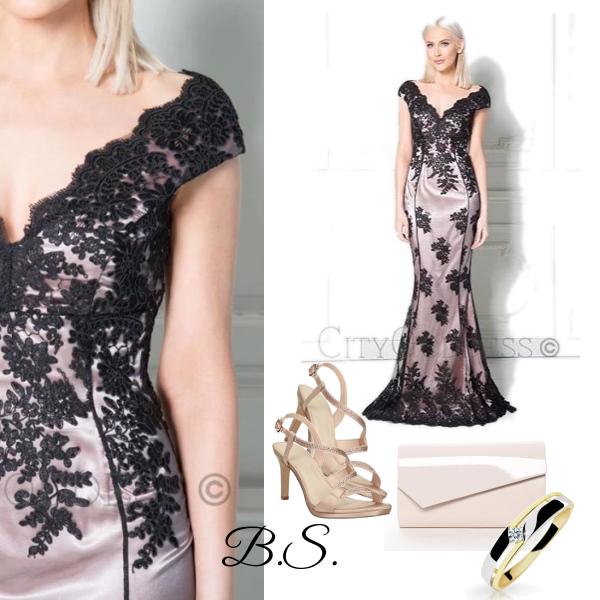 4ca49de3a56d Plesové šaty s krajkou City Goddess Adina City Goddess