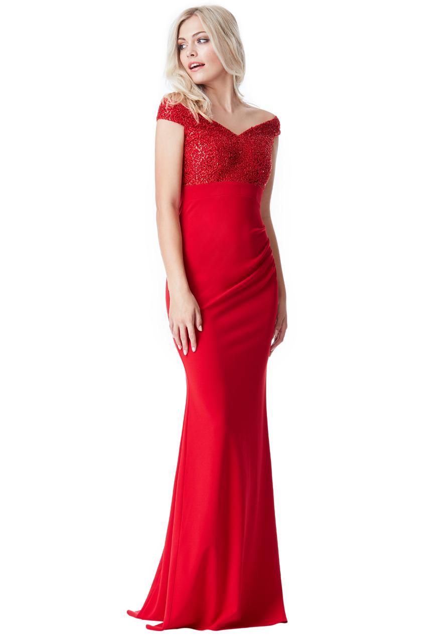 Červené plesové šaty City Goddess Sasha 4ea19d4b4f