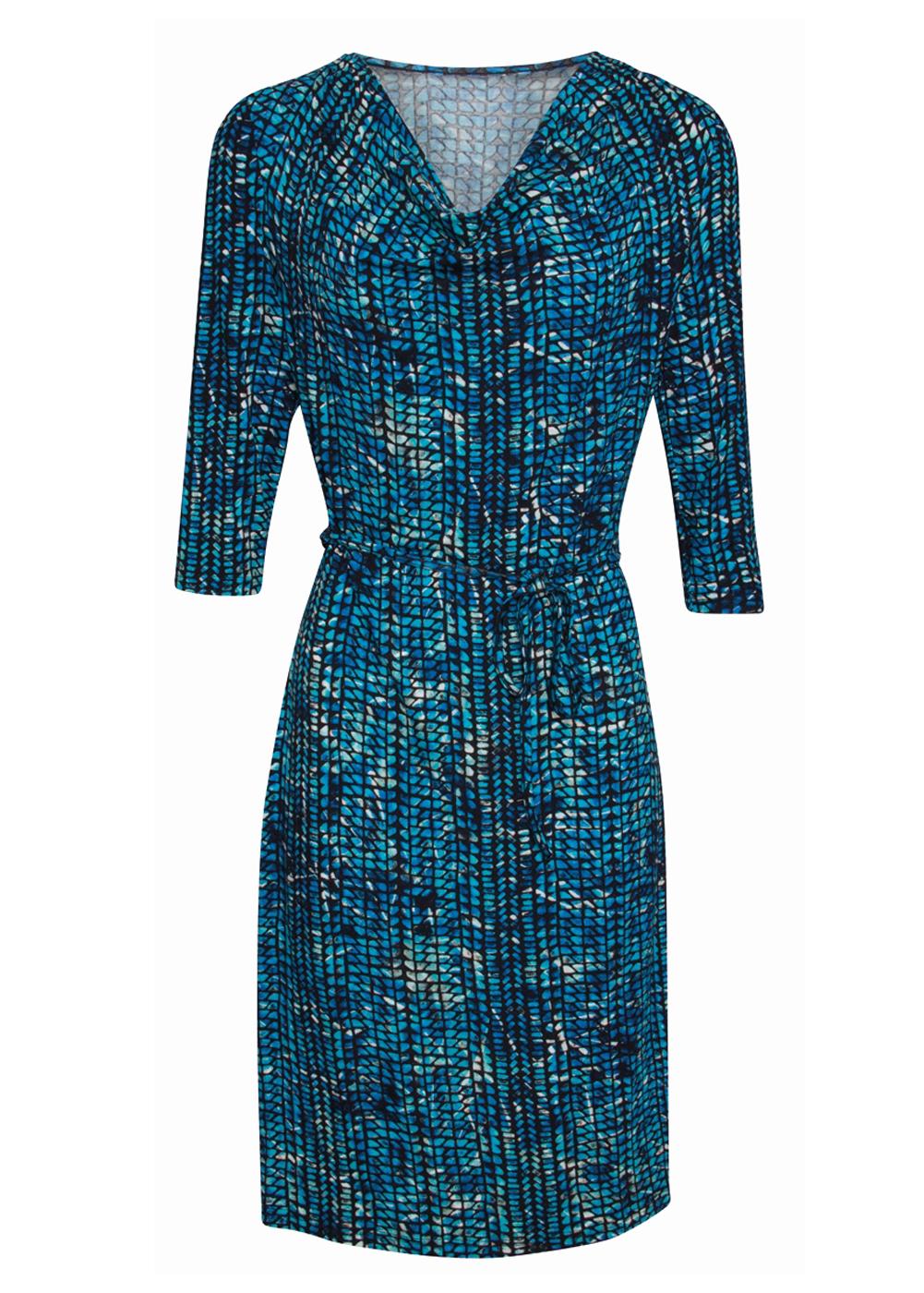 ad1c06bda59d Modré vzorované šaty Smashed Lemon Neila Smashed Lemon