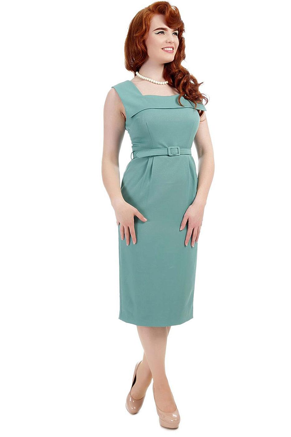 042adde9d334 Světle zelené pouzdrové šaty Collectif Nadia Collectif