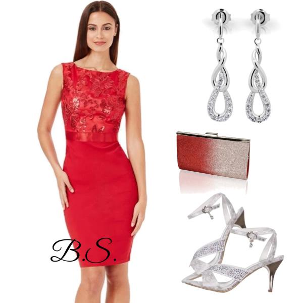 7a8da9869bd5 Pouzdrové společenské šaty City Goddess Star červené City Goddess ...