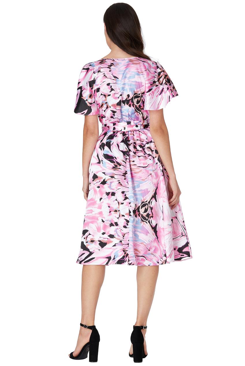 3374e2a0809 Růžové šaty s květy City Goddess Roxy City Goddess