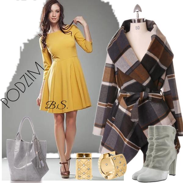 Dámské hořčicové šaty Nife Monica Nife  03586ae8470