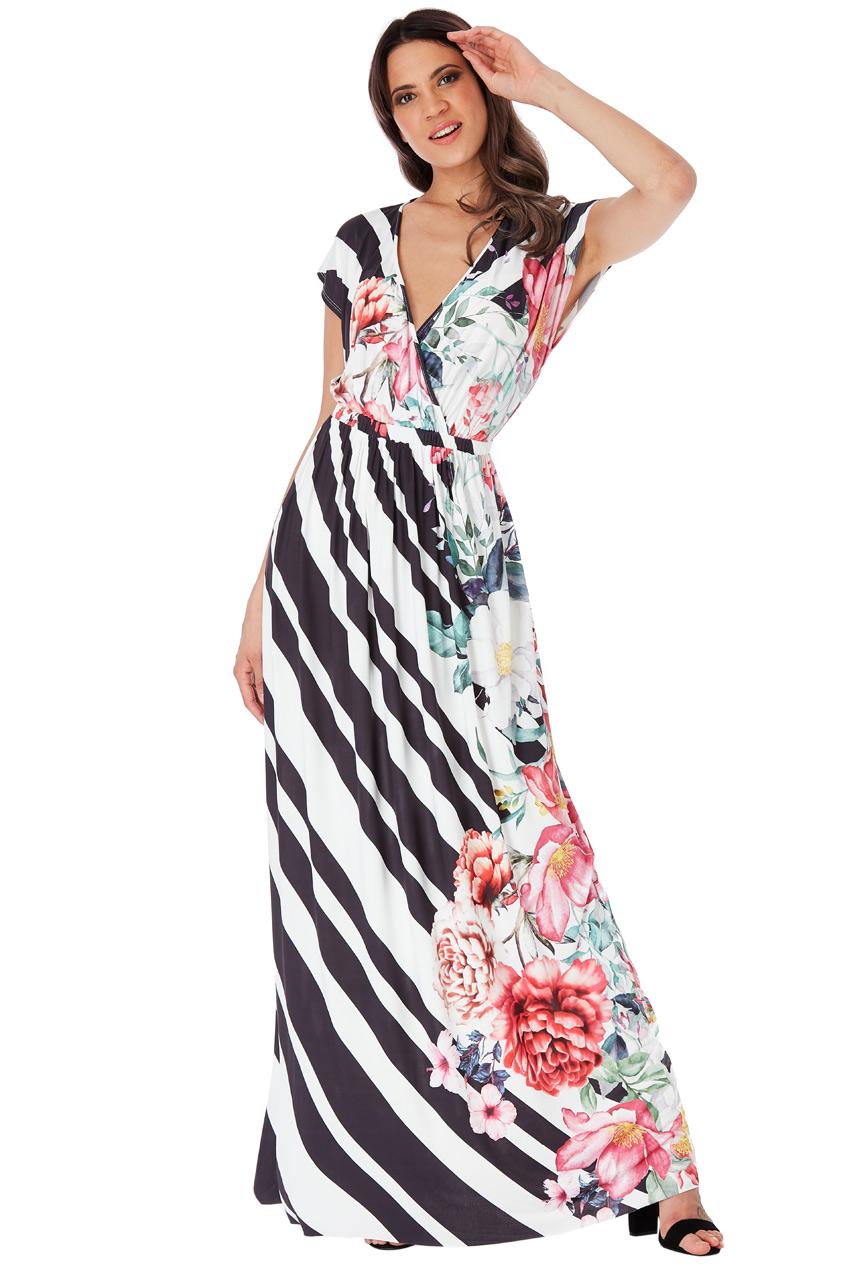 Dlouhé šaty s květy City Goddess Suzanne City Goddess  358b4df492