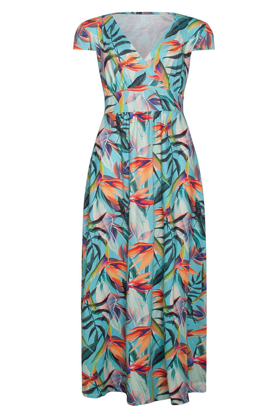 ce839b27984b Letní barevné maxi šaty Smashed Lemon Rina Smashed Lemon Šaty na ...