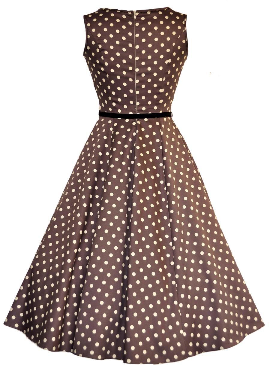 Béžové šaty s puntíky Lady V London Audrey Lady V London  0781c63937
