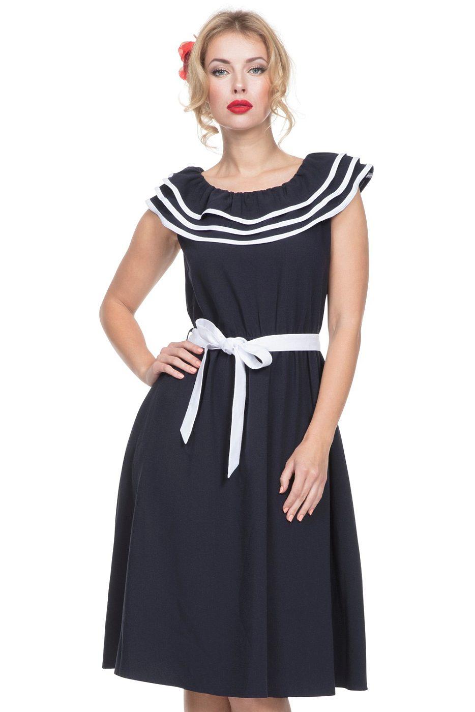 2401b1efef78 Modré námořnické šaty Voodoo Vixen Hope Voodoo Vixen