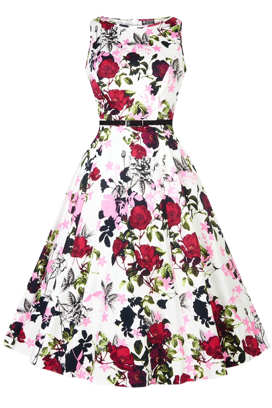 Letní šaty s květy Lady V London Audrey Lady V London  3511c907bd