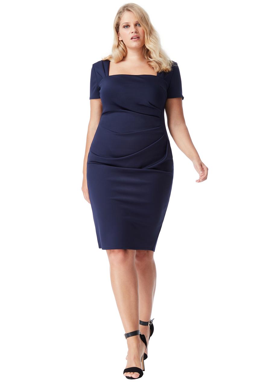 Modré pouzdrové šaty City Goddess Caroline City Goddess  452012e302d