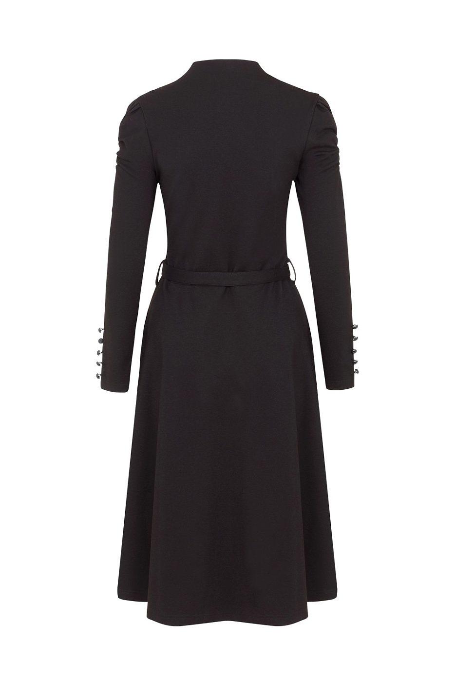 Černé šaty s dlouhým rukávem Voodoo Vixen Dita Voodoo Vixen  e508280f82b